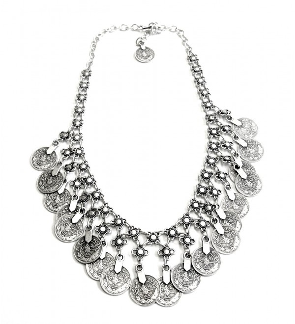 Chanour Jewelry Pewter Coin Necklace - CC126EC7P93