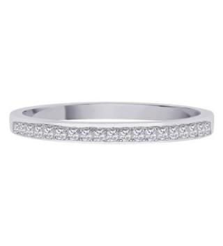 Princess Diamond Sterling Silver Size 6 5