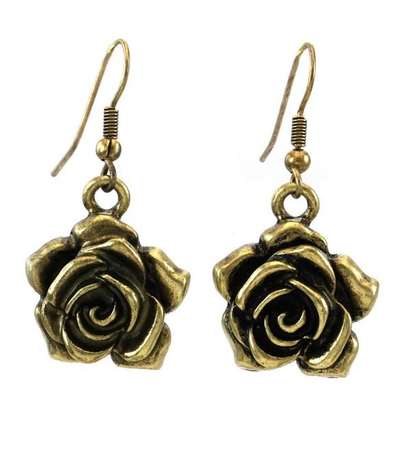 Flower Rose Dangle Earrings Fashion Jewelry - CD110UTCCX1