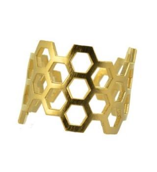 AppleLatte Honeycomb Ring- Gold Plated Adjustable - CT11NX7CXI1