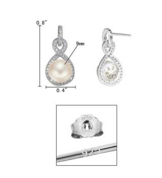 EleQueen Sterling Freshwater Cultured Infinity in Women's Drop & Dangle Earrings