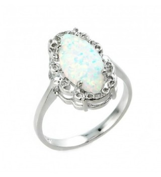 925 Sterling Silver Statement Solitaire Ring - C411NE6F9I7