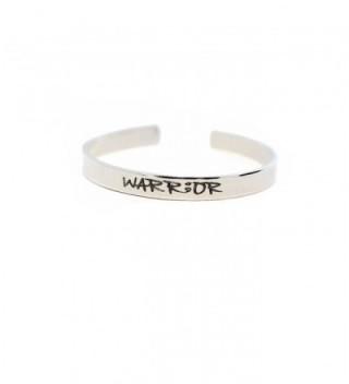 WARRIOR Bracelet - Custom message cuff - Handstamped Aluminum Bracelet - Semicolon - CX12MZ1IH8Z