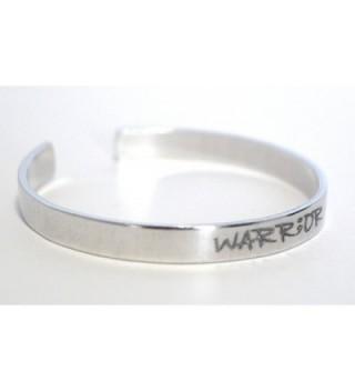 WARRIOR Bracelet Handstamped Aluminum Semicolon