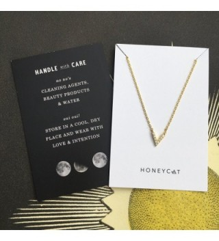 HONEYCAT Crystal Necklace Minimalist Delicate in Women's Chain Necklaces
