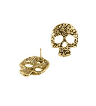 Antiqued Floral Sugar Earrings Muertos