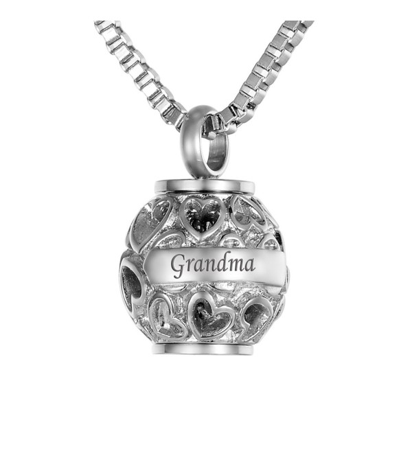 VALYRIA Cremation Necklace Keepsake Memorial - Silver Tone - CP12NH5DD5L