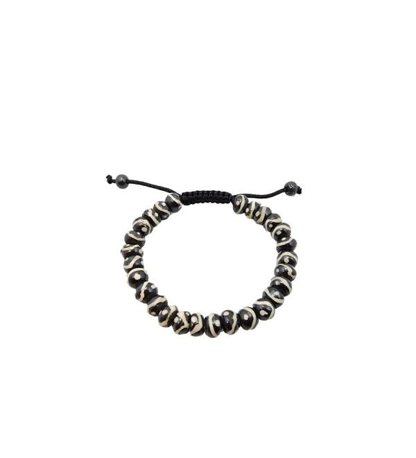 Tibetan Mala Yak Bone Buddha of Compassion Wrist Mala Bracelet for Meditation - CK125VKPG27