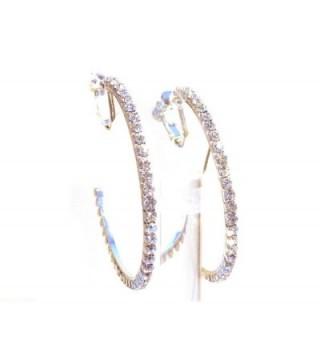 Clip Earrings Silver Crystal Pierced in Women's Clip-Ons Earrings