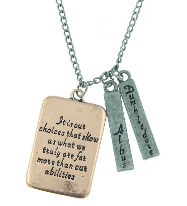 Harry Potter Albus Dumbledore Quote Necklace - CE126O0YOO9