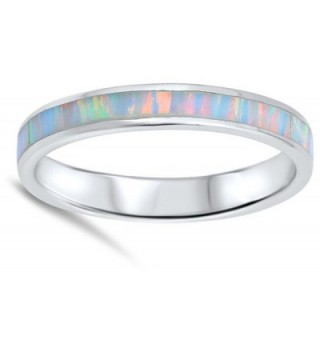 Simulated Eternity Stackable Sterling Silver