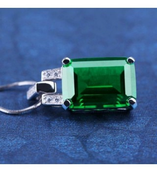 ANGG Emerald Necklace Pendant Sterling