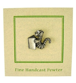 Bookworm Lapel Pin 1 Count in Women's Brooches & Pins