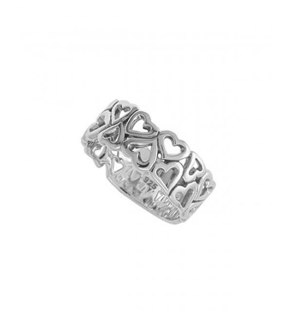Boma Sterling Silver Open Hearts Ring - C411NY5O7BX