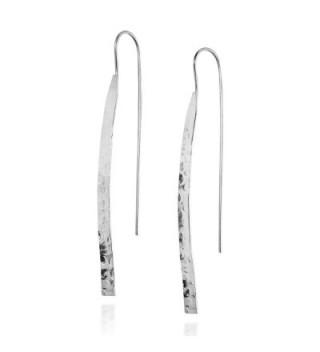 Trendy Hammered Sterling Silver Earrings