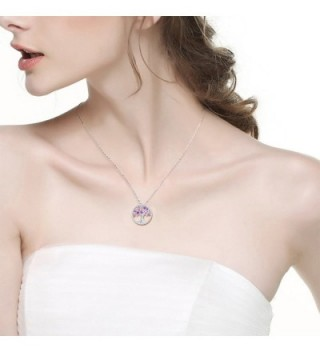 Amethyst Necklace February Birthstone Sterling in Women's Collar Necklaces