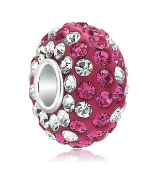 CandyCharms 925 Sterling Silver Red Crystal Charm Bead For Bracelet - CT17YYA6R8I
