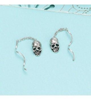 EleQueen Sterling Inspired Threader Earrings