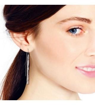 Trendy Hammered Sterling Silver Earrings in Women's Drop & Dangle Earrings