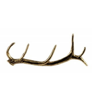 Creative Pewter Designs- Pewter Elk Antler Shed Handcrafted Lapel Pin Brooch- M004 - C3188R42CNO