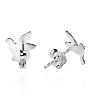 Doting Flight Textured Sterling Earrings in Women's Stud Earrings