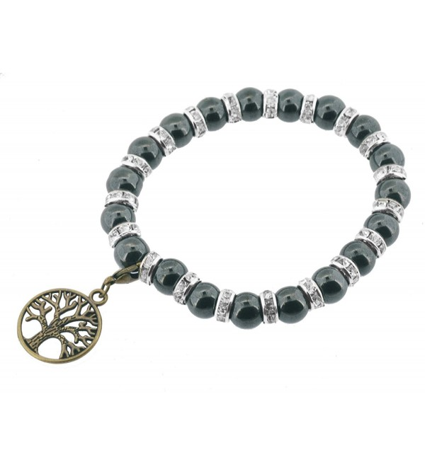 Magnetic Stretch Black Simulated Hematite Bracelet - CI11KRRAPVL