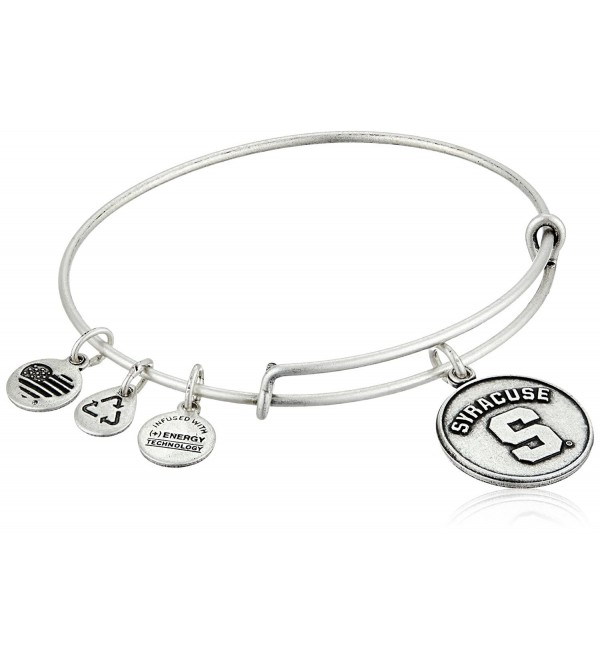 Alex and Ani Syracuse University Logo Expandable Bangle Bracelet - Rafaelian Silver - C111PKTZCIX