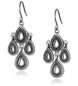 Lucky Brand Womens Blue Moon Moveable Tribal Chandelier Earrings - Silver - CW11GM8J5H5