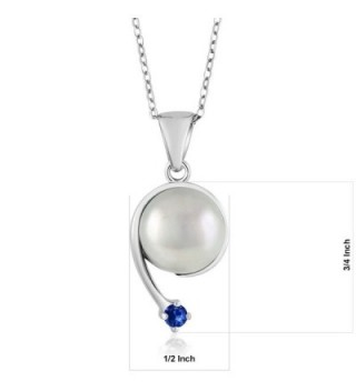 Sapphire Cultured Freshwater Sterling Shooting in Women's Pendants