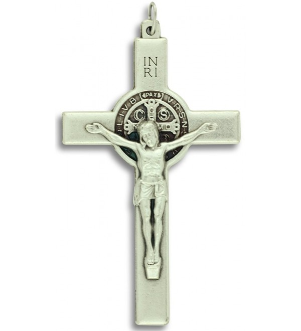 "St. Benedict Crucifix Cross Pendant 3"" with Card - CC11YDRQPH5"