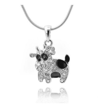 chelseachicNYC Crystal Black Spot Cow Necklace - CH12IZHUEBB