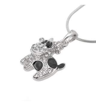 chelseachicNYC Crystal Black Spot Necklace in Women's Pendants
