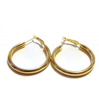 Medium Earrings Shiny Round Lightweight