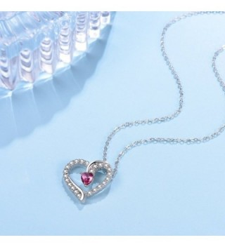 Anniversary Sapphire Swarovski Necklace Birthstone in Women's Pendants