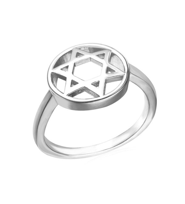 U7 Unisex Jewish Jewelry Fashion Gold Plated Star of David Ring- Size 6 to 11 - platinum-plated - CJ12N4YA8N8