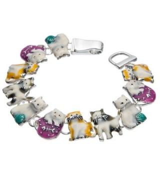 Kitty Cat Friends Yellow Purple Tennis Bracelet by Jewlery Nexus - CY1880LR7G0