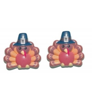 Turkey With Pilgrim Hat Thanksgiving Stud Earrings (H293) - CC183OIOY9H