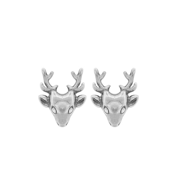 Boma Sterling Silver Deer Stud Earrings - C711HEKQ9OH