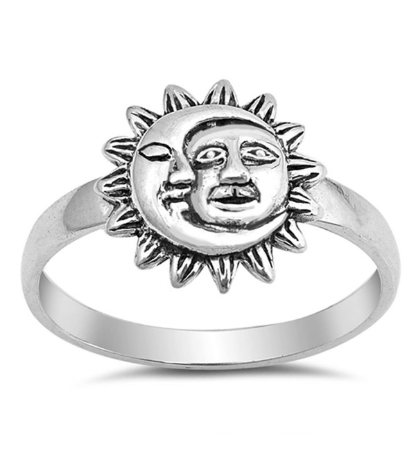Sun Moon Universe Space Fashion Ring New .925 Sterling Silver Band Sizes 4-10 - CV12N8YRAJ8
