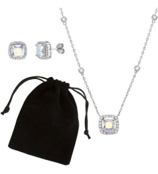 Lesa Michele Zirconia Borealis Sterling in Women's Jewelry Sets