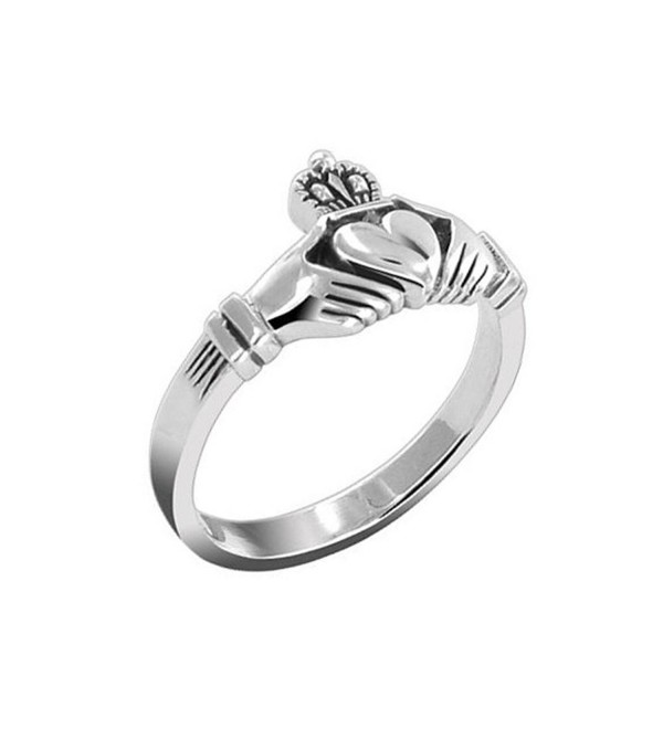 Celtic Ring Classic Claddagh Design Sterling Silver - CO1166GBDTV