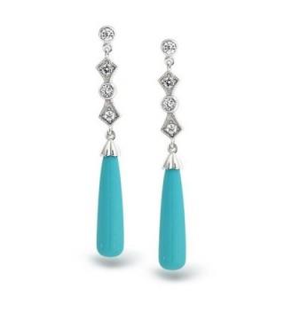 Bling Jewelry Reconstituted Turquoise Earrings in Women's Drop & Dangle Earrings