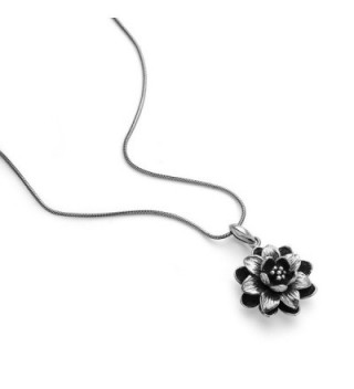 Oxidized Sterling Blooming Detailed Necklace