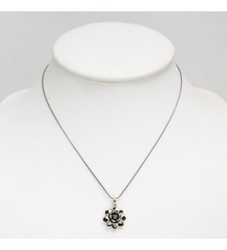 Oxidized Sterling Blooming Detailed Necklace in Women's Pendants