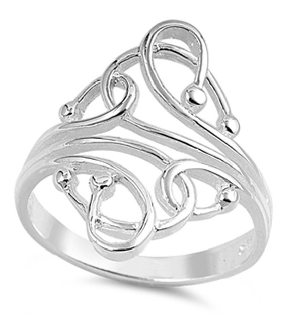 CHOOSE YOUR COLOR Sterling Silver Fashion Bead Ring - CZ1297DUNVN