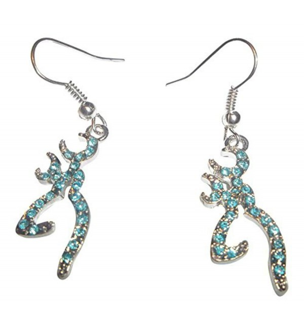 Bling Crystal Blue Browning Drop Earrings for Women - C8122FHU5CP