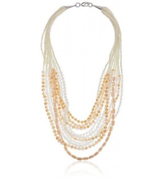 Panacea Ivory and White Crystal Statement Strand Necklace- 20'' - C611UL664K5