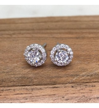 Rhodium Plated Sterling Zirconia Earrings