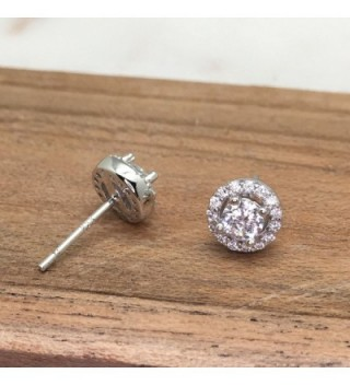 Rhodium Plated Sterling Zirconia Earrings in Women's Stud Earrings