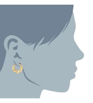 Yellow Shiny Heart Earrings Diameter in Women's Hoop Earrings